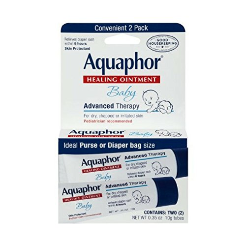 Aquaphor Baby Healing Ointment Advanced Therapy 2 tubes 0.35 oz( Packs of 2)