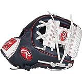 Rawlings Gamer XLE Baseball Glove, Navy/White, 11.25'
