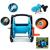 YaeTek Portable Garden Hose Reel for Gardening Outdoor and Car Washing(All the accessories pls reference the first pic in our list,any other hoses and adapters are not included)