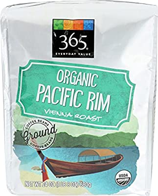 365 Everyday Value, Organic Pacific Rim Vienna Roast Ground Coffee, 24 oz by 365