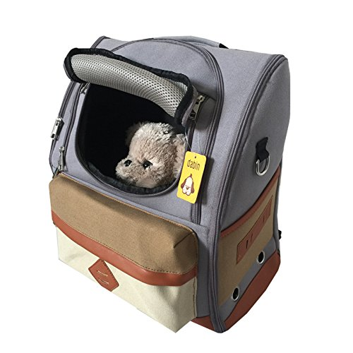 JSDDE ペットバッグ 犬用 キャリーバッグ 軽い リュック 10kgまで 携帯しやすい かわいい お出かけ便利 折りたたみ 2WAY 3色 (グレー)