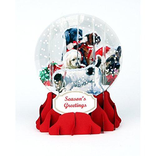 Christmas Dogs Pop Up Snow Globe