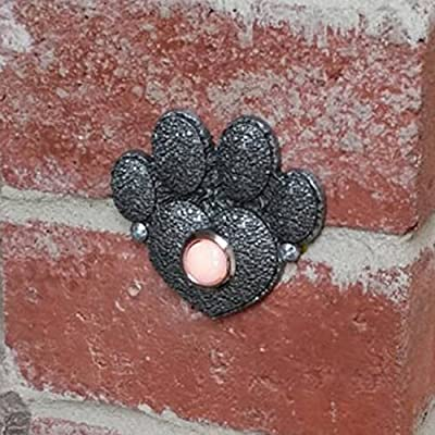 Paw Print Heart Decorative Doorbell with lighted button
