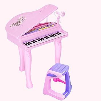 DUWEN Teclado para niños Instrumentos para la primera infancia Bebés y niños pequeños Iluminación Edición para