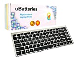 UBatteries Compatible Laptop Keyboard Replacement For Sony VAIO VGN-FW280J VGN-FW285J VGN-FW290 VGN-FW290J VGN-FW290JRB VGN-FW290JTB VGN-FW290JTH VGN-FW290JTW VGN-FW290N - (Black, Silver Frame)