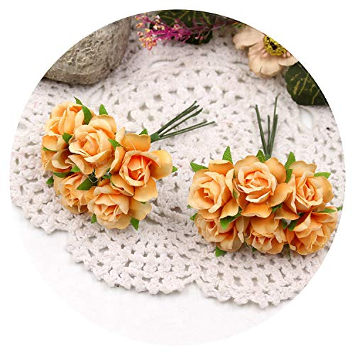 60pcs/lot Artificial Flowers Silk Roses Wedding Shoes Headdress Home Decoration Flower Wall Artificial Bridal Wreath Collage,Orange
