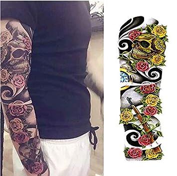 Tatuajes Temporales Adultos Brazo Zorro Y Conejo Flor Completa ...