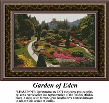 Garden Of Eden, Landscapes Counted Cross Stitch Pattern (Pattern Only, You  Provide The