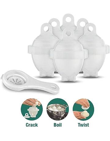 Pawaca Silicona Hervidor de Huevos Sin BPA Aprobado por la FDA Aptas para El Lavavajillas Duro