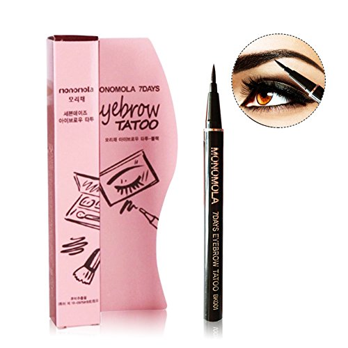 Turelifes Tattoo Eyebrow Pen Lasting Waterproof Brow Pencil Eyes Makeup (Dark brown) (Tattoo Pencil)