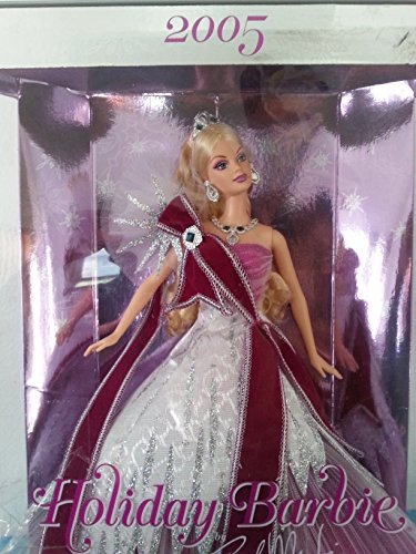 Celebration BARBIETM 6th in Series 2005 Hallmark Ornament QX2202 by Celebration BARBIE Special 2005 Edition Inspired by the Holiday Barbie doll designed by Bob Mackie - Bob Mackie Holiday Barbie