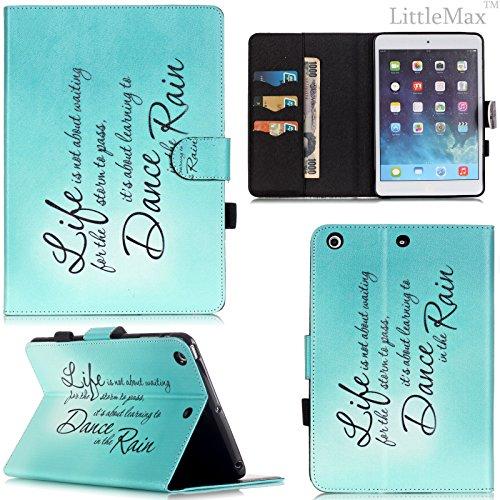 iPad Mini 1/2/3 Case-LittleMax(TM) [Pen Slot] Synthetic Leather Kickstand Case [Smart Wake/Sleep] Cover Flip Wallet iPad Mini 3/2/1 Protector [Free Cleaning Cloth,Stylus Pen]-01 Dance in the Rain