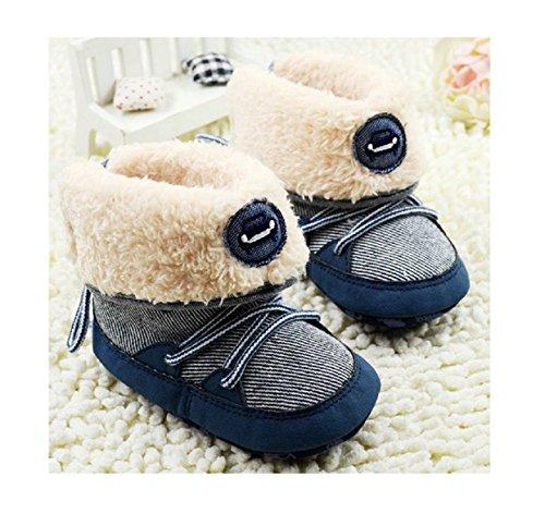 2016 New Baby Boy Prewalker Soft Snow Boots Faux Fur Lace Up Toddler Boots Shoes X16 (1)
