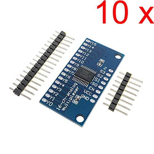 DAOKI 10pcs CD74HC4067 16-Channel Analog Digital Multiplexer Breakout Board Module for Arduino 2V-6V Microcontroller 16 Device RX Lines