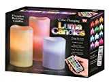 Luma Candles Real Wax Flameless Candles with Remote Control Timer, 3 Candle Set, Vanilla