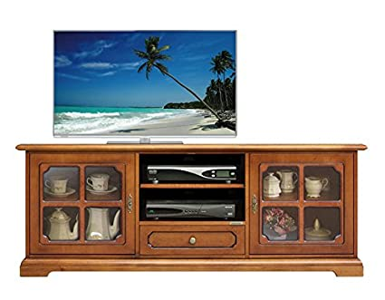 Mobile porta TV in stile classico con vetri nelle ante, per il ...