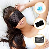Sleep Mask for Travel – Premium Quilted Design: #1 Recommended Eye Mask, Soft satin material, Blackout technology, Comfortable, Adjustable, Heavenly. Sleep better today – Perfect Posture