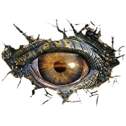 Wall Sticker ZTY66, Removable Big Dinosaur Eye 3D Mural Stickers for DIY Home Decor