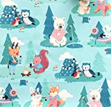 Whimsical Camping Woodland Creatures Happy Birthday Celebration Party Gift Bag 12.75