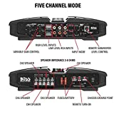 BOSS Audio Systems PV3700 5 Channel Car Amplifier - 3700 Watts, Full Range, Class A-B, 2-4 Ohm Stable, Mosfet Power Supply, Bridgeable, Remote Subwoofer Control