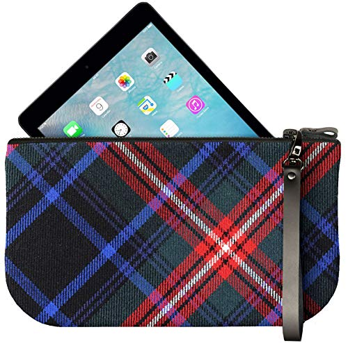 Clutch with Small Braveheart Tartan Mini Enough Leather Bag iPad Fit to Large gZZqw4t5H