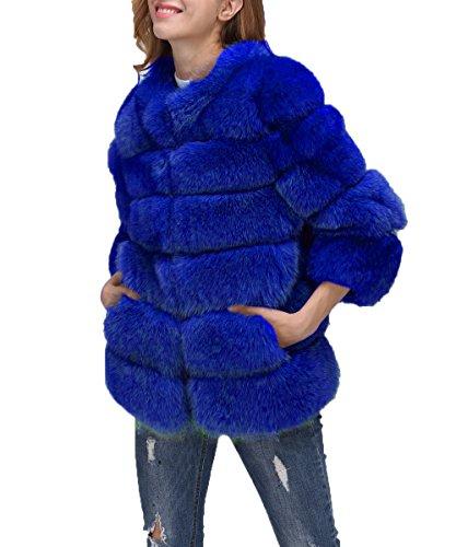 Di Vest Royal Pelliccia Cappotto Stile Faux Folobe Lungo Caldo ' Womens Inverno wOCf4