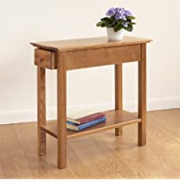 Manchester Wood Chairside Drawer Table - Golden Oak