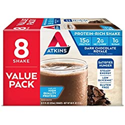 Atkins Ready to Drink Protein-Rich Shake, Dark Chocolate Royale, 8 Count