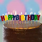 Happy Birthday Letter Candles Pick Set Word Party Cake Topper Decoration Rainbow