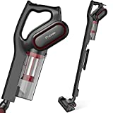 iTvanila Vacuum Cleaner,Stick Bagless Vacuum Cleaner, 600W Lightweight Corded 2 in 1 Handheld Vacuum with HEPA Filtration for Hard Floor Pet Hair Cleaning