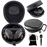 Headphones Case for AKG K240,Sennheiser HD598,HD 650,HD 280,Superlux HD688B,Shure SRH-440,Audio-technica ATH-M50x,Sony MDR-900,MDR-V6,MDR-V700,MDR-7506,MDR-1RBT And Many More