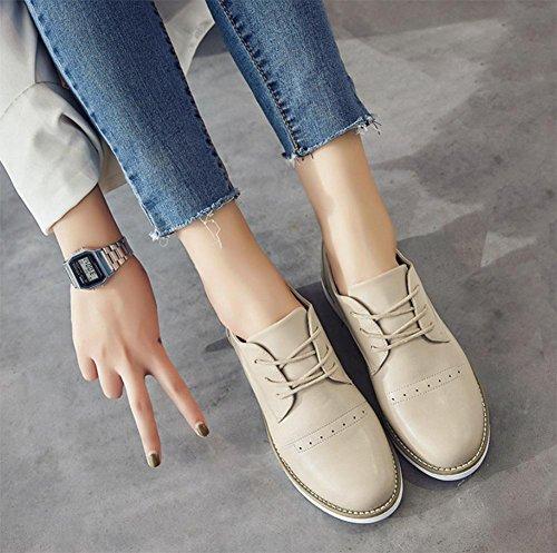 Ms. primavera e l'autunno casuali scarpe ascensore scarpe donna scarpe singolare femminile piane piccole signore del college Shoes , US6 / EU36 / UK4 / CN36