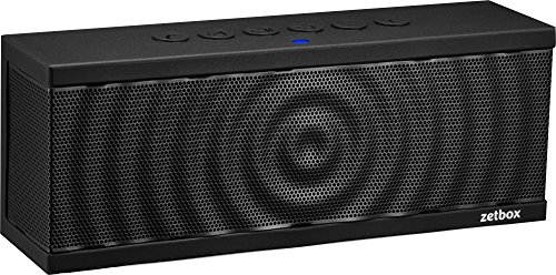 Zetz Wireless Bluetooth Speaker, 10W, Up To 12 Hours Playtime, NFC & AUX Connectivity, Portable Loud Speaker for iPhone, iPad, Galaxy, Nexus, and More - Black