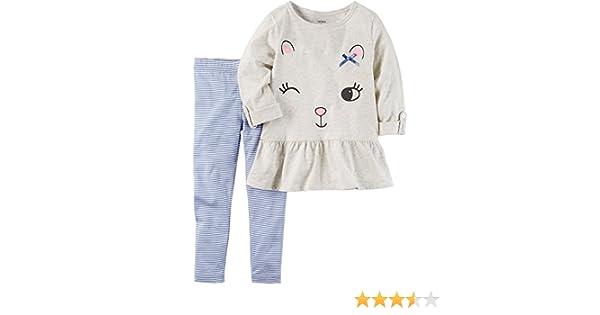 87484d2224510 Amazon.com: Carter's Baby Girls' 2 Piece Peplum Tunic & Leggings Set:  Clothing