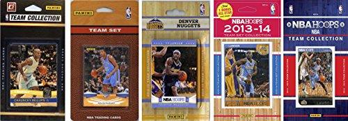 NBA Denver Nuggets 5 Different Licensed Trading Card Team Sets, Brown, One Size Denver Nuggets Brown Basketball