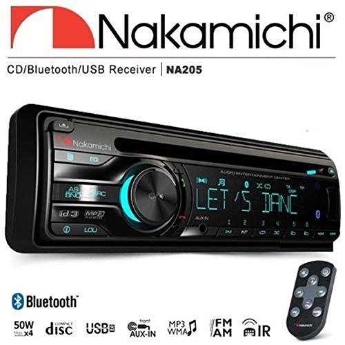 Used, Nakamichi NA205 Bluetooth Single Din CD USB Aux Car for sale  Delivered anywhere in USA