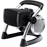 Portable Electric Ceramic Utility Heater Rugged and Durable with Adjustable Thermostat Control,1500Watt