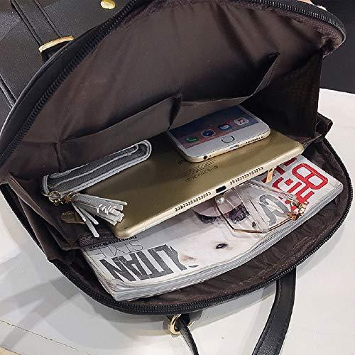 03 Donne Impermeabile Casual Da Carino Pelle E Piccola Per Daypacks Viaggio Scuola Nero Mini In Pu Zaino Borsa Ragazze Adolescenti 4wYTUA