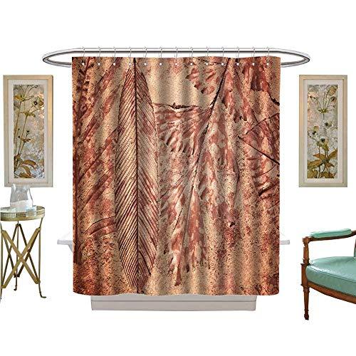 luvoluxhome Shower Curtain Customized Mark Leaf Concrete Pavement Bathroom Decor Set with Hooks W54 x L78