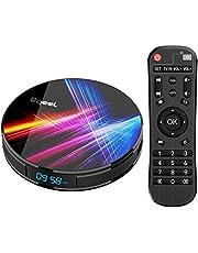Última 9.0 TV Box 【4GB RAM+32GB ROM】 Bqeel Android TV Box RK3318 Quad-Core 64bit Cortex-A53 Soporte 2k*4K, WiFi 2.4G/5G,BT 4.0 , USB 3.0 Smart TV Box