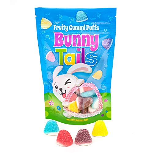 Bunny Tails Easter Candy | Fruit Flavored Gummi Puffs Candy | Perfect for Easter and Easter Basket Stuffer!]()