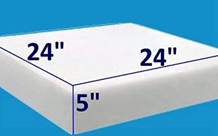 5 X 24 X 24 Baytrim High Density Upholstery Foam Cushion 1844 Upholstery Sheet Foam Padding