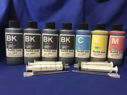 Ink Refill Set for all inkjet for Refillable Cartridges /Ciss/cis ink system obyt