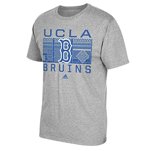 Ucla Bruins Ncaa Pattern - NCAA Ucla Bruins Men's Big Pattern Short Sleeve Go To Tee, Small, Gray