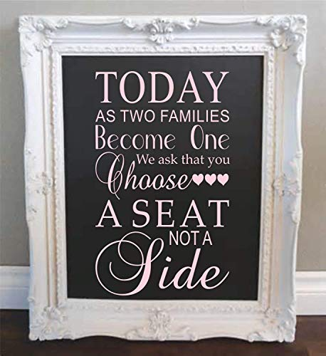 Wedding Vinyl Wall Decal - Wedding Sign Wall Decal - Wall Decor - SF - made in the USA ()