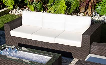 Amazon.com : Source Outdoor King Sofa, Rust : Patio Sofas ...