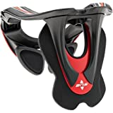 Alpinestars BNS Tech Carbon Adult Neck Brace Motocross Motorcycle Body Armor - Red/White / X-Small/Medium