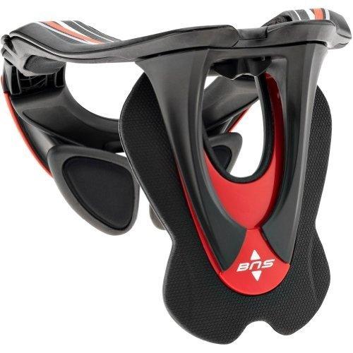 Alpinestars Bionic Neck Support - Alpinestars BNS Tech Carbon Adult Neck Brace Motocross Motorcycle Body Armor - Red/White / X-Small/Medium