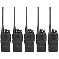Baofeng Pofung GT-1 Two-Way Radio (Green), UHF 400-470MHz, 16 Channels, 1500mAh Battery, 5 Pack