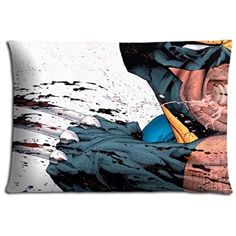 Zippered Prints Wolverine and the X-Men Wrinkle-free Cotton Polyester Bed Pillow Cover Case 16x24 inch 40x60 (Wolverine Xmen Bedding)